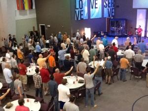 Men seeking God in response to the teaching.